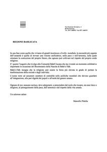 <p>Il messaggio del Presidente della regione Basilicata, Marcello Pittella</p>