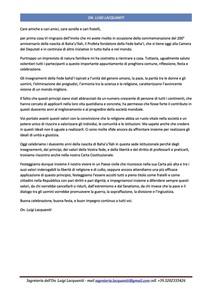 <p>Messaggio di auguri dell&#39;Onorevole Luigi Laquaniti, Deputato della Repubblica Italiana</p>