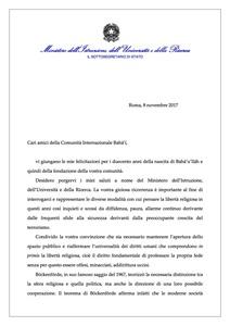 <p>Messaggio del Sottosegretario di Stato all&rsquo;Istruzione, Universit&agrave; e Ricerca, Vito De Filippo (1) continua...</p>