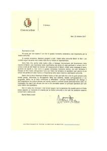 <p>Messaggio del Sindaco di Bari Antonio Decaro</p>