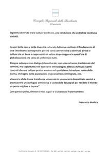 <p>Messaggio del Presidente&nbsp;del Consiglio Regionale della Basilicata, Francesco Mollica (2)&nbsp;</p>